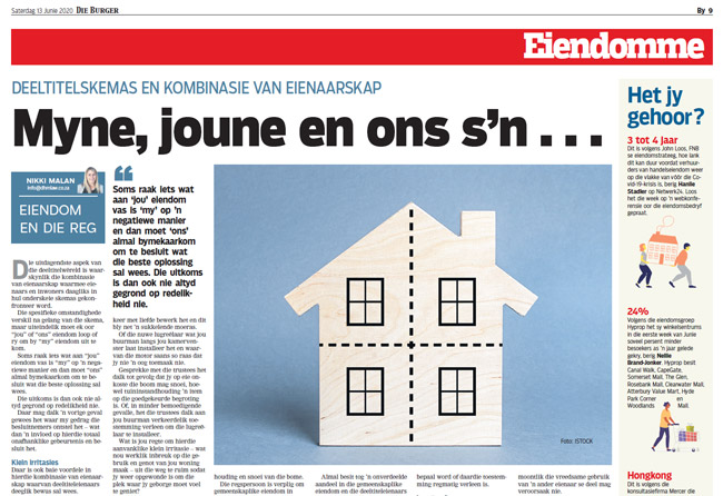 Article in The Burger Newspaper - myne-joune-en-ons-sn-13-junie-2020